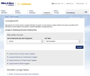 Lufthansa Miles and More Lounges