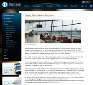 Diners Club Airport Lounges
