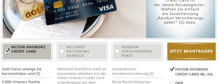 Hilton HHonors Credit Card Leistungen